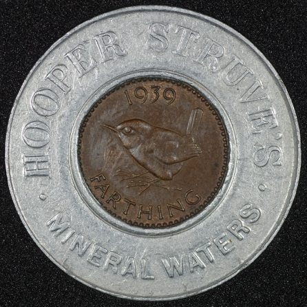 1939 George VI Encased Farthing Hooper Struves No JRG Rev