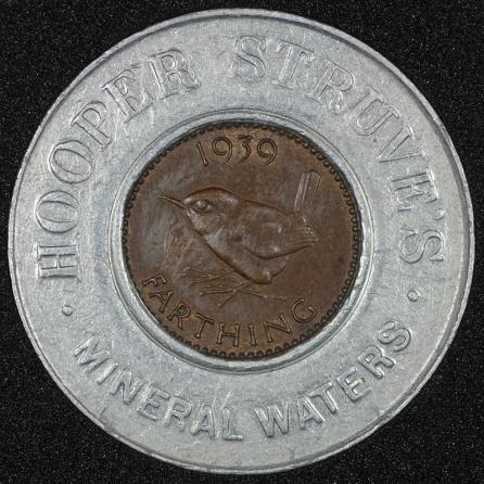 1939 George VI Encased Farthing Hooper Struves No JRG Rev