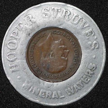1936 George VI Encased Farthing Hooper Struves Obv Reversed Coin