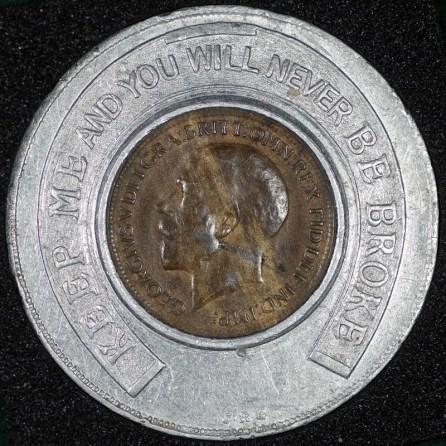 1919 george v encased farthing hooper struves obv