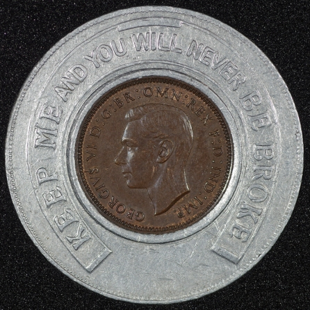 1939 George VI Encased Farthing Hooper Struves No JRG Obv