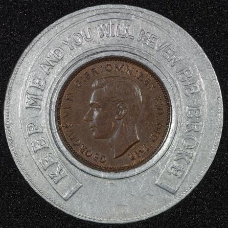 1939 George VI Encased Farthing Hooper Struves No JRG Obv