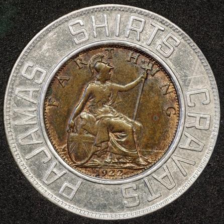1922 Edward VII Encased Farthing Forsyth Rev