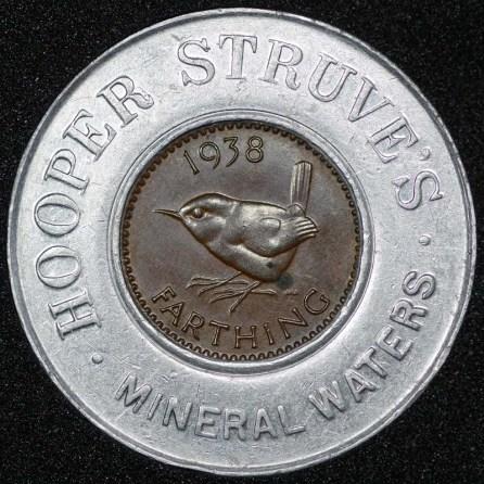 1938 George VI Encased Farthing Hooper Struves Rev
