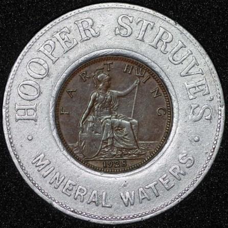 1928 George V Encased Farthing Hooper Struves Rev