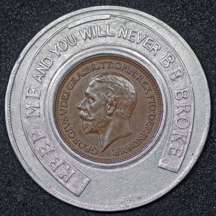 1928 George V Encased Farthing Hooper Struves 2nd Obv