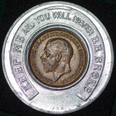 1936 George VI Encased Farthing Hooper Struves Obv