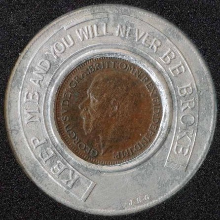 1936 George V Encased Farthing Ole In The Wall Obv