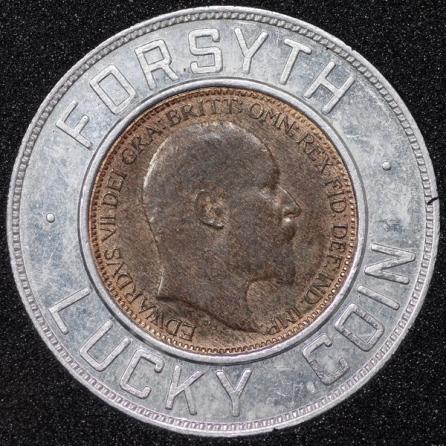 1905 Edward VII Encased Farthing Forsyth Obv