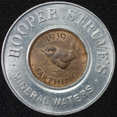 1939 George VI Encased Farthing Hooper Struves Rev
