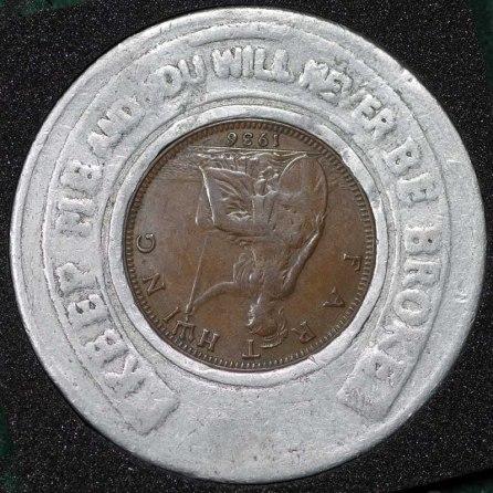 1936 George VI Encased Farthing Hooper Struves Rev Reversed Coin