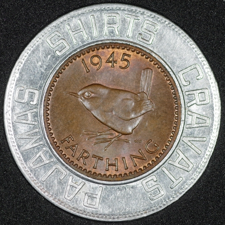 1945 George VI Encased Farthing Forsyth Rev