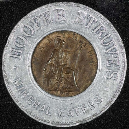 1919 george v encased farthing hooper struves rev