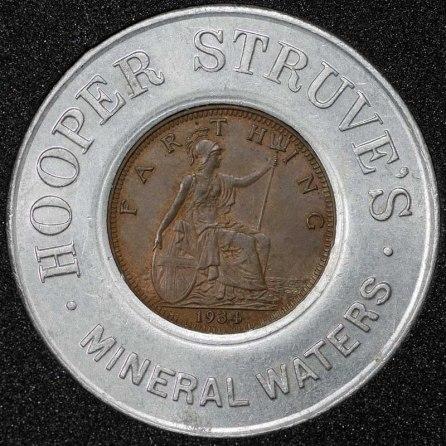 1934 George V Encased Farthing Hooper Struves Rev 1st