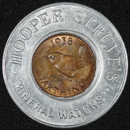 1938 george vi encased farthing hooper struves rev1st
