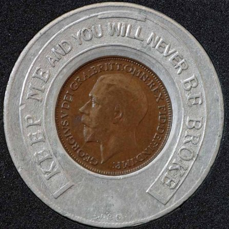 1922 George V Encased Farthing Sherrys Dance Hall Obv