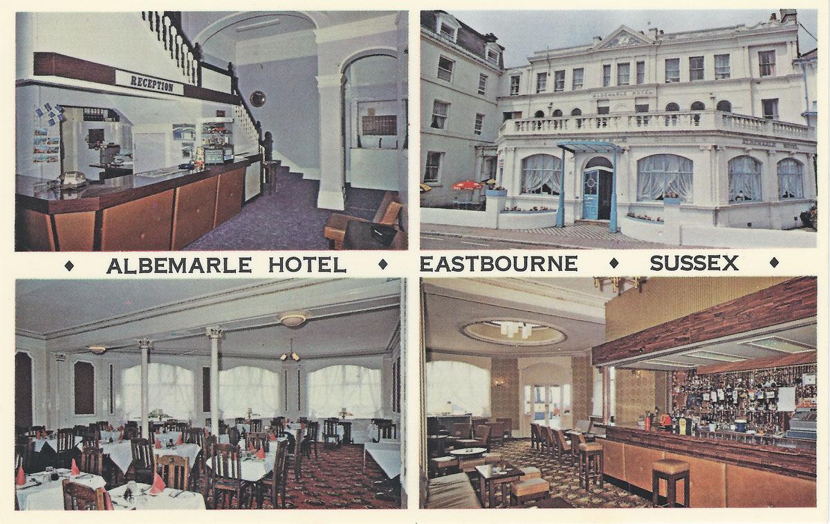 Albermarle Hotel Eastbourne Postcard