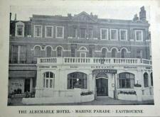 Albermarle Hotel Eastbourne BW Postcard 800