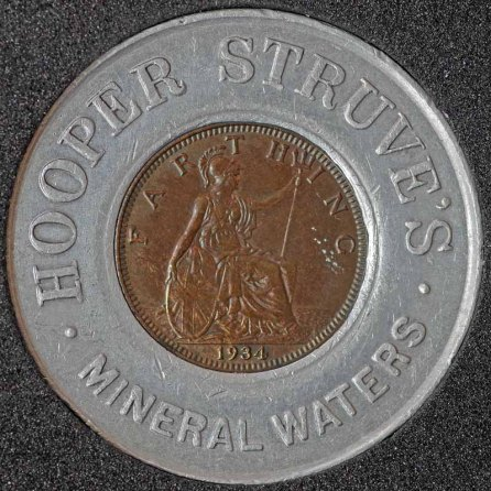 1934 George V Encased Farthing Hooper Struves Rev 4th