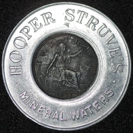1936 George VI Encased Farthing Hooper Struves Rev