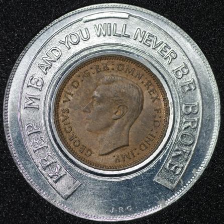 1939 George VI Encased Farthing Hooper Struves Obv