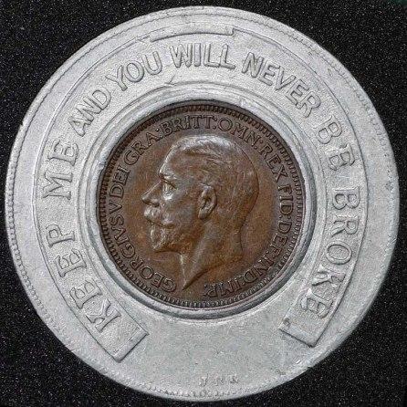 1936 George VI Encased Farthing Hooper Struves Obv 2nd