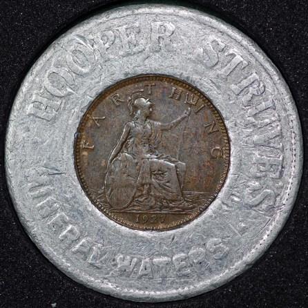 1927 George V Encased Farthing Hooper Struves Rev