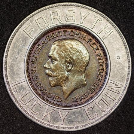 1922 Edward VII Encased Farthing Forsyth Obv