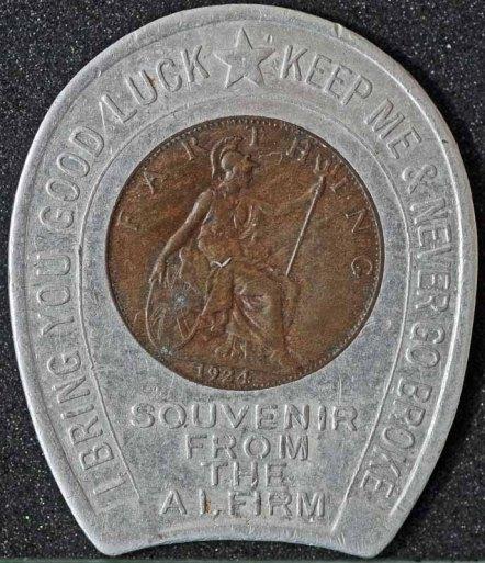 1924 George V Encased Farthing Harris Kraines & Kraines 2 Rev