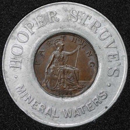 1936 George VI Encased Farthing Hooper Struves Rev 2nd