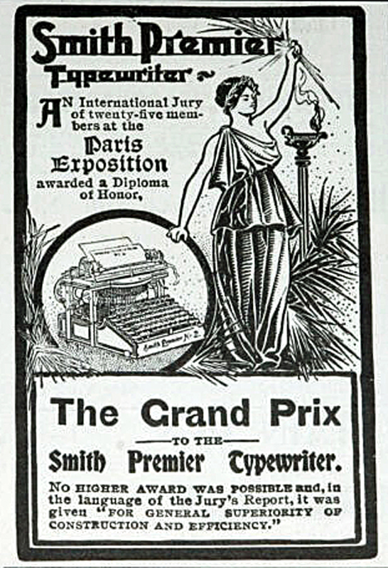 Smith Premier Typewriter Advert 1900