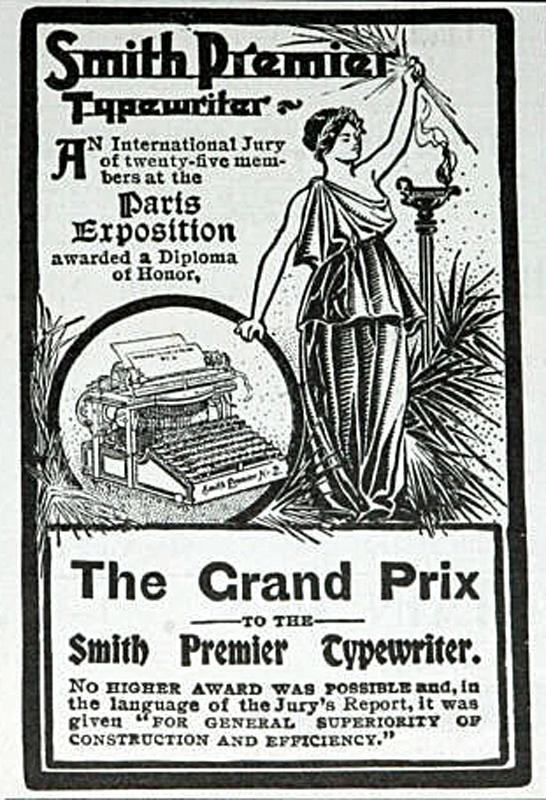 Smith Premier Typewriter Advert 1900
