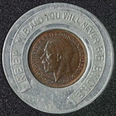1926 George V Encased Farthing Ambassador Super Cinema Obv