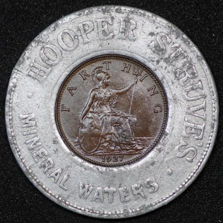 1927 George V Encased Farthing Hooper Struves 01 Rev