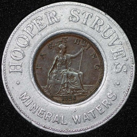 1928 George V Encased Farthing Hooper Struves Rev