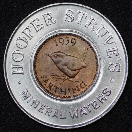 1939 George VI Encased Farthing Hooper Struves 01 Rev