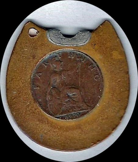 Generic Horseshoe Black Enamel Rev Oval BB