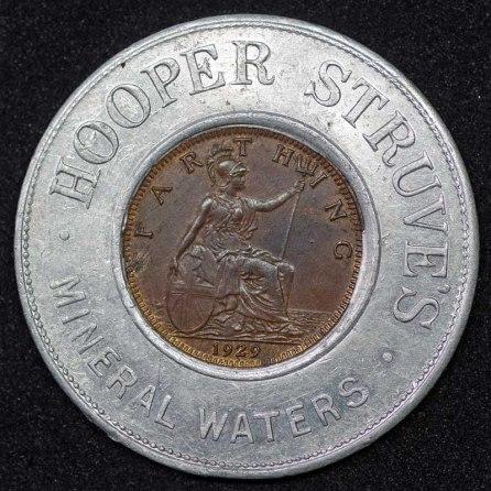 1929 George V Encased Farthing Hooper Struves Rev