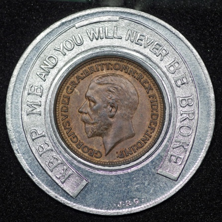 1930 George V Encased Farthing Rickinsons Obv 1st