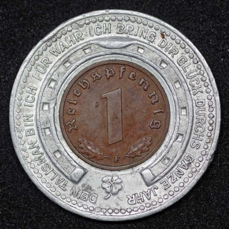 German Encased Coin Rev