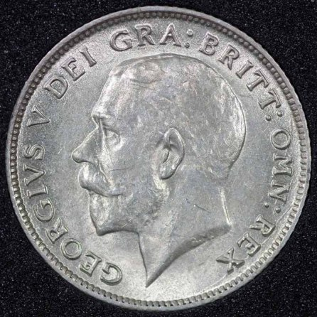 1923 George V Sixpence Obv