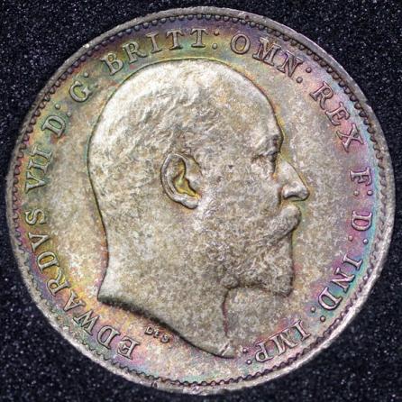 1902 Edward VII Silver Threepence Obv
