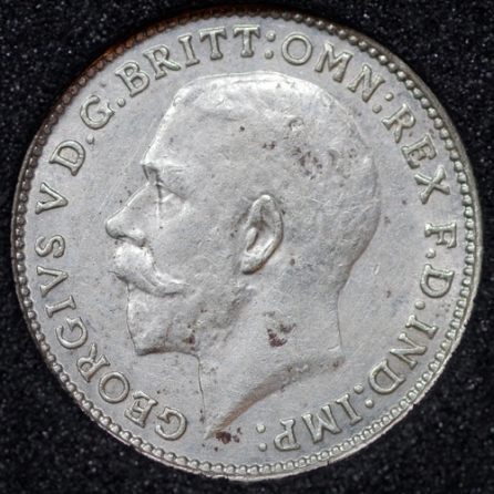 1925 George V Silver Threepence Obv