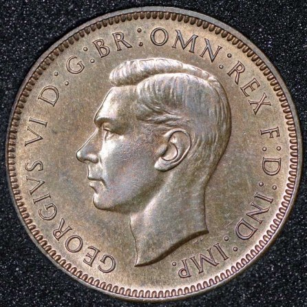1937 Farthing George VI PROOF Obv Web