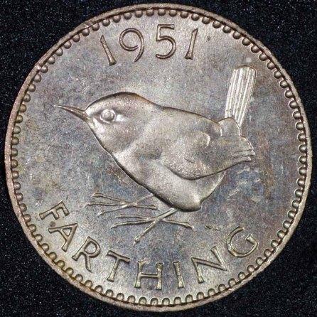 1951 Farthing George VI PROOF Rev Web