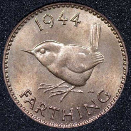 1944 George VI Farthing Rev