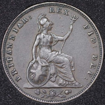 1834 William IV Farthing Rev