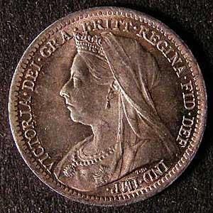 1899 Silver 3d Victoria Obv Web