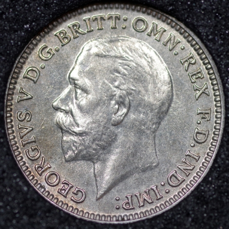 1931 George V Silver Threepence Obv