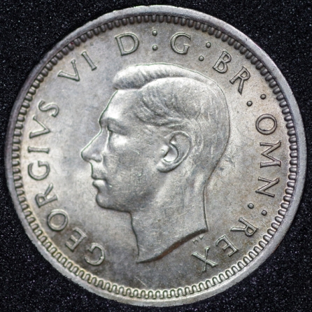 1940 George VI Silver Threepence Obv